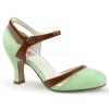 FLAPPER - 27 Mint/Brown Faux Leather